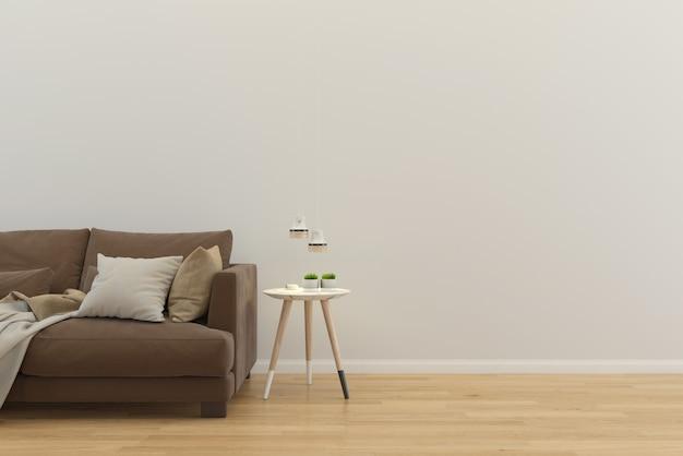 Salon wnętrze domu piętro szablon tło makieta projekt kopia przestrzeń