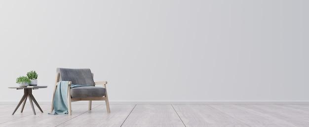 Salon z drewnianym stołem i fotelem.