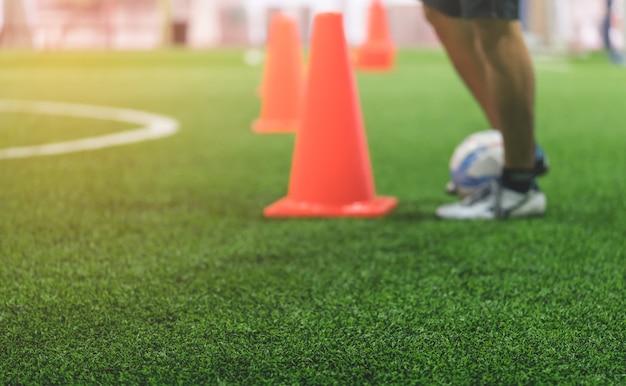 Salowy piłki nożnej szkolenia pola plamy abstrakt dla tła