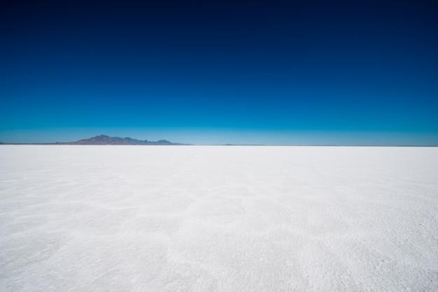 Salt flats w stanie utah