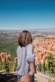 Sama przygoda ameryka piękno tło park narodowy bryce canyon bryce canyon droga canyon