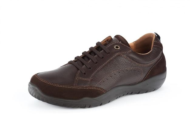 Samiec butów kostki buty odizolowywający na białym tle