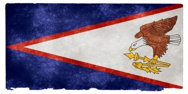 Samoa amerykańskie grunge flag