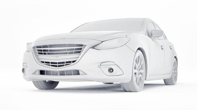 Samochód cty z pustą powierzchnią do kreatywnego projektowania. renderowanie 3d.