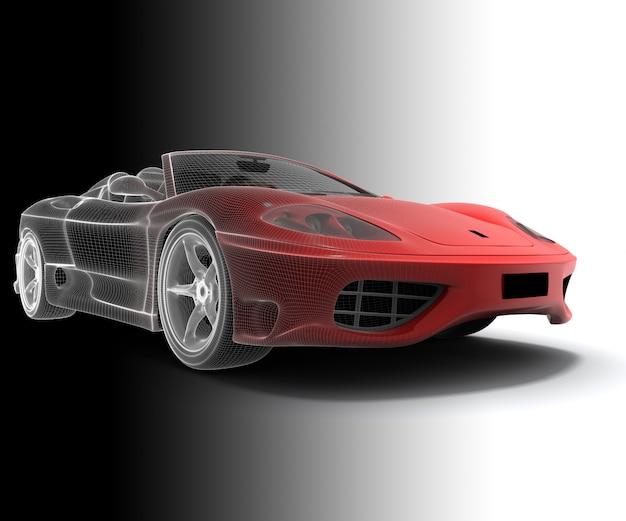 Samochód model szkieletowy