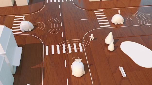 Samochody samojezdne - animacja 3d