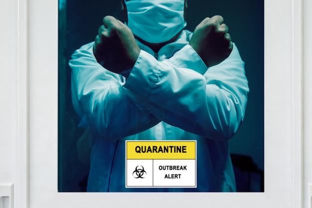 Samoizolacja i kwarantanna, aby pomóc powstrzymać rozprzestrzenianie się koronawirusa (covid-19) podczas oczekiwania na wyniki testu