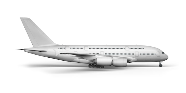 Samolot 3d renderowania