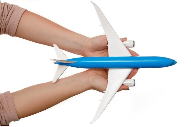 Samolot jest w troskliwych rękach. koncepcja wsparcia przemysłu lotniczego.