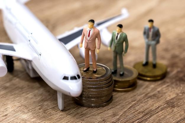 Samolot pieniądze i ludzie mini zabawki