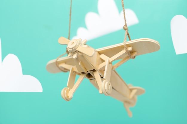 Samolot zabawka z bliska