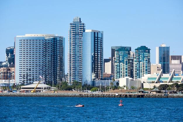 San diego skyline budynków w centrum miasta