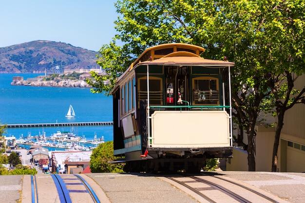 San francisco hyde street cable car w kalifornii