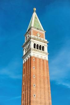 San marco dzwonnica, dzwonnica katedry świętego marka na placu w wenecji