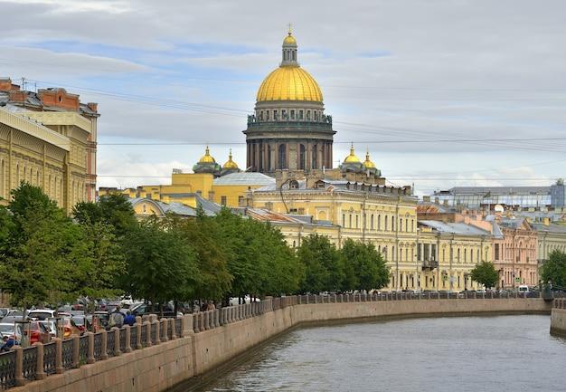 Sankt petersburg rosja09012020 nabrzeże rzeki moika