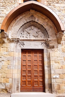 Sansepolcro włochy fasada kościoła katolickiego chiesa di sant antonio abate
