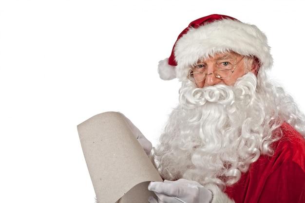 Santa claus portret na bielu