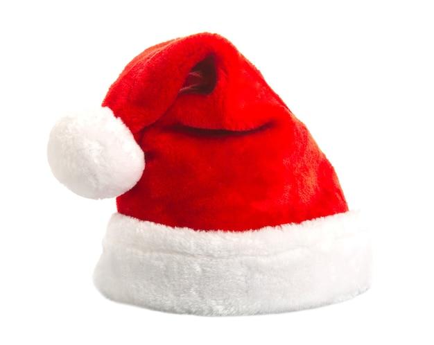 Santa hat na białym tle