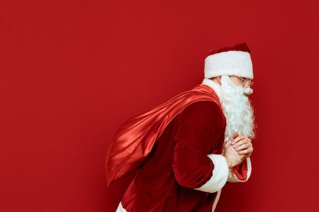 Santa i puste miejsce na tekst. koncepcja bożego narodzenia.