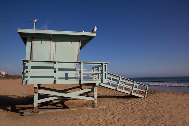 Santa monica ratownika plażowy wierza w kalifornia