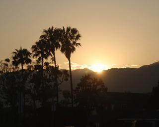 Santa monica zachód słońca
