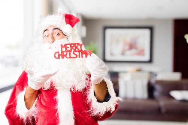 Santa z tekstami a