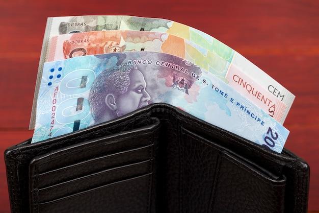 Sao tome and principe pieniądze dobra w czarnym portfelu