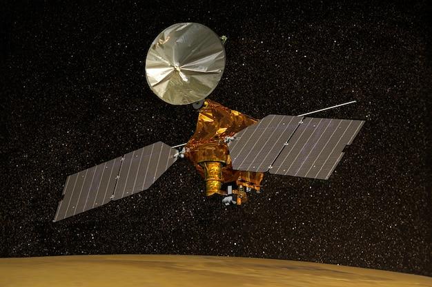 Satelita marsa w kosmosieelementy tego zdjęcia dostarczone przez nasa d ilustracji