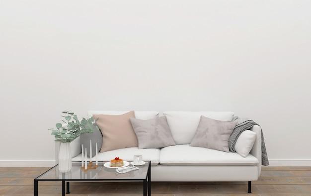 Scandinavian living room - galeria zdjęć mockup
