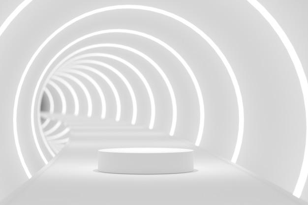 Scena abstrakcyjna do wyświetlania produktu. renderowanie 3d