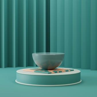 Scena na cokole do prezentacji produktów z abstrakcyjnym tłem. 3d renderowane zdjęcie