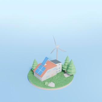 Scena projektu środowiska 3d