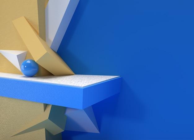 Scena renderowania 3d z minimalną sceną podium do projektowania reklam produktów reklamowych.