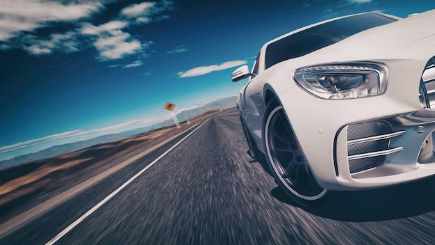 Scena samochodów sportowych.