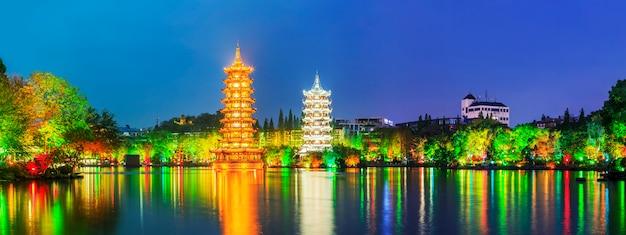 Scena scenicznego słynnego piękne miasto niebieski
