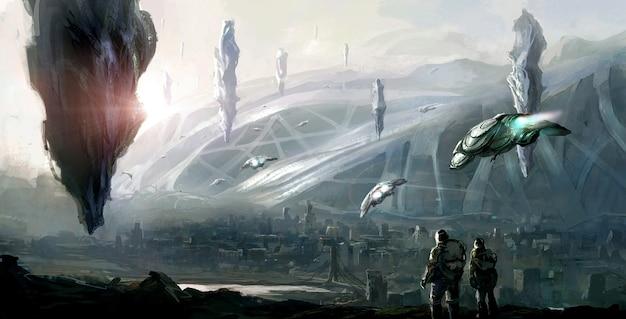 Scena science fiction.