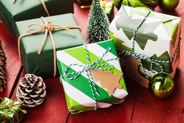 Scena świąteczna z pudełka