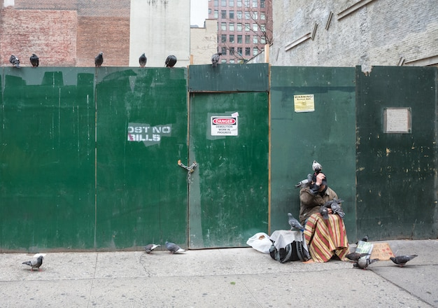 Scena uliczna na manhattanie