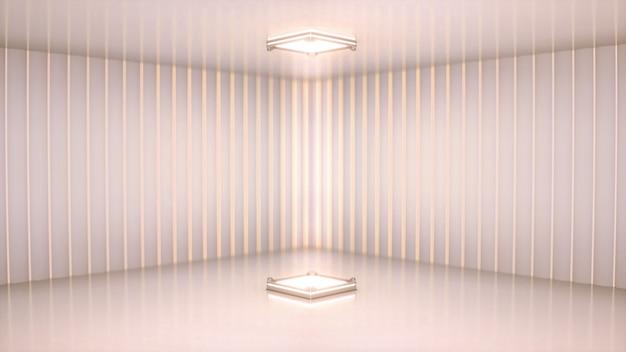 Scena z białym reflektorem