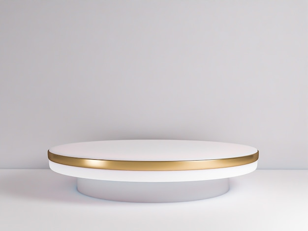 Scena z podium do prezentacji makiety w stylu minimalizmu z przestrzenią do kopiowania, 3d renderowania abstrakcyjnego projektu tła