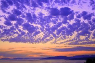 Scena zachód słońca, krajobraz