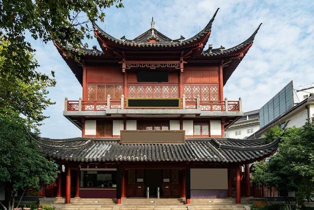 Sceneria świątyni konfucjusza w nanjing, prowincja jiangsu, chiny