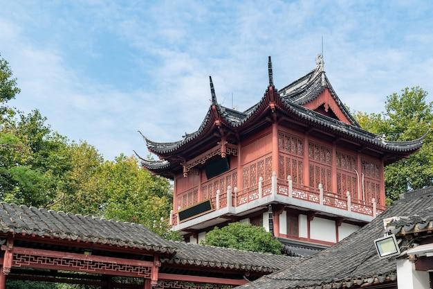 Sceneria świątyni konfucjusza w prowincji nanjing jiangsu w chinach