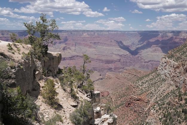 Scenic widok panorama parku narodowego wielkiego kanionu. niesamowite zdjęcie panoramiczne arizony usa z południowej krawędzi.