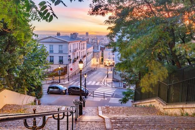 Schody montmartre, paryż, francja