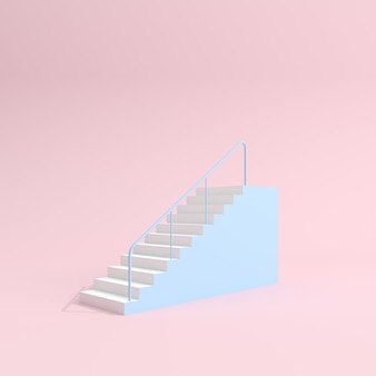 Schody pastelowe z balustradą