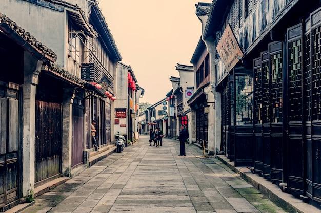 Schody ściany struktury kultury chińskich ulicach