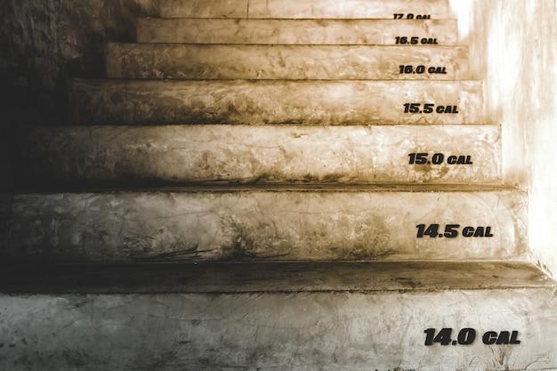 Schody z numerami