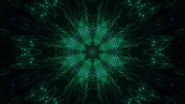 Sci-fi w ciemnym kształcie tunelu science fiction