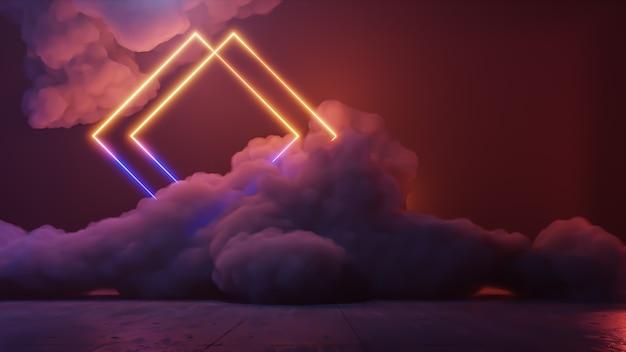 Sci fi wirtualna rzeczywistość krajobraz w stylu cyberpunk renderowania 3d